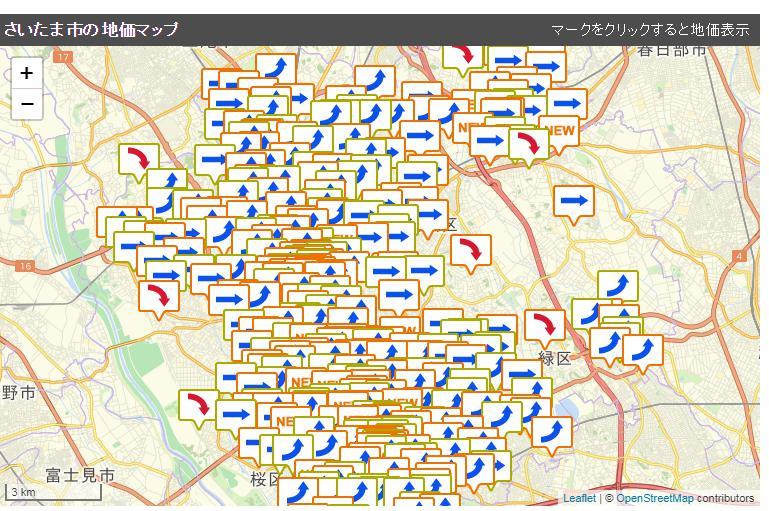 さいたま市 公示価格